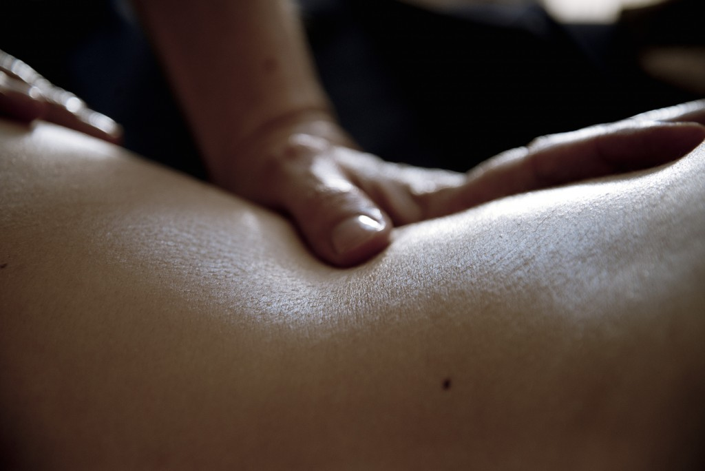 massage à l'huile gros plan 2